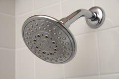 Pista de ducha del cromo Foto de archivo libre de regalías