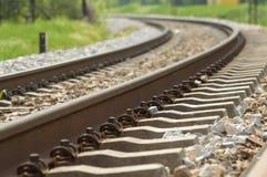 Pista de ferrocarril Fotografía de archivo