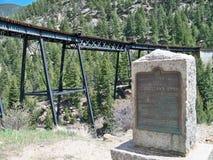 Pista de ferrocarril del lazo de Georgetown Colorado Fotografía de archivo libre de regalías