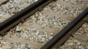 Pista de ferrocarril estrecha Fotografía de archivo libre de regalías