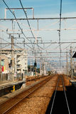 Pista de ferrocarril, Japón Imagenes de archivo