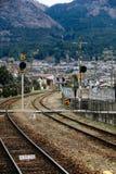 Pista de ferrocarril, Japón Fotos de archivo