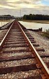 Pista de ferrocarril sobre la cala de Dunn Fotos de archivo