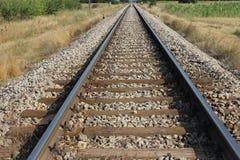 Pista de ferrocarril vieja imagen de archivo libre de regalías