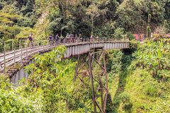 Pista de ferrocarril vieja cerca de Medellin, Colombia Fotos de archivo