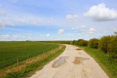 Pista de granja en primavera Fotografía de archivo libre de regalías
