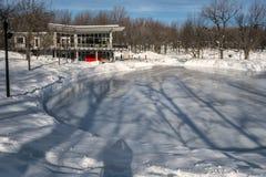 Pista de hielo de la escena del invierno fotografía de archivo libre de regalías