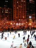 Pista de hielo en Chicago Fotos de archivo libres de regalías