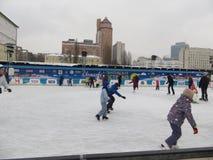 Pista de hielo en Kiev Fotografía de archivo