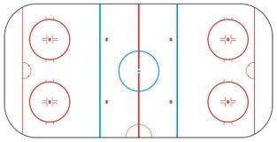 Pista de hockey sobre hielo Fotografía de archivo libre de regalías