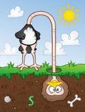 Pista de la avestruz en arena stock de ilustración