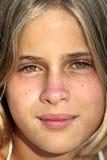 Pista de la chica joven Imagen de archivo