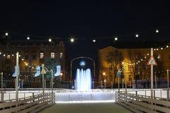 Pista de la ciudad en la noche Fotos de archivo libres de regalías