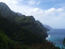 Pista de la costa del Na Pali, Kauai, Hawaii Foto de archivo