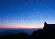 Pista de la estrella Foto de archivo libre de regalías