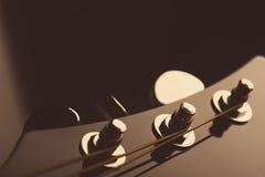 Pista de la guitarra Imagen de archivo