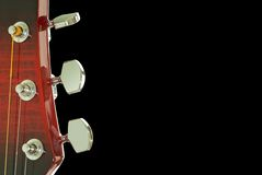 Pista de la guitarra. Cierre para arriba. Imagen de archivo libre de regalías