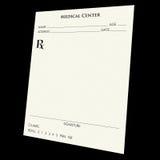 Pista de la prescripción Foto de archivo libre de regalías