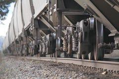 Pista de la reunión de las ruedas del tren fotografía de archivo libre de regalías