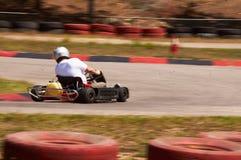 Pista de la velocidad de la raza de Karting fotos de archivo