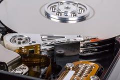 Pista de mecanismo impulsor del disco duro Fotografía de archivo libre de regalías