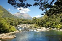 Pista de Milford, paisaje pintoresco, Nueva Zelanda Fotografía de archivo