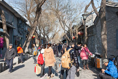 Pista de Nanluogu de Beijing Fotografia de Stock