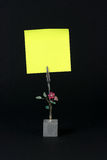 Pista de nota amarilla Imágenes de archivo libres de regalías