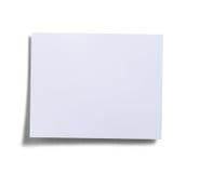 Pista de nota blanca Imagen de archivo libre de regalías