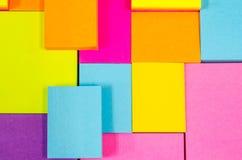 Pista de nota colorida Foto de archivo