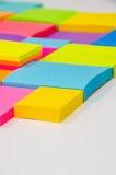 Pista de nota colorida Imagenes de archivo