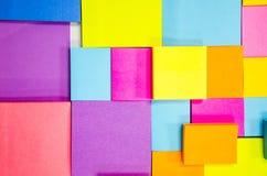 Pista de nota colorida Fotografía de archivo libre de regalías