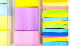 Pista de nota colorida Imágenes de archivo libres de regalías