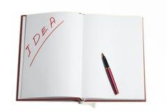 Pista de nota con white pages Imágenes de archivo libres de regalías