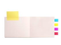 Pista de nota del cuaderno Foto de archivo libre de regalías