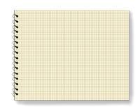 Pista de nota en blanco de la libreta Fotografía de archivo