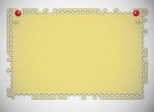 Pista de nota rasgada amarilla vieja Foto de archivo