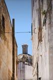 Pista de Ostuni na cidade velha Imagem de Stock
