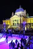 Pista de patinagem da cidade em Zagreb Imagens de Stock