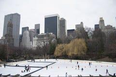 Pista de patinagem de Central Park Foto de Stock
