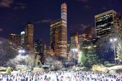 Pista de patinagem do Central Park, New York Foto de Stock