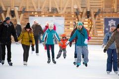Pista de patinagem no parque de Gorky Fotos de Stock