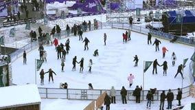 Pista de patinaje metrajes