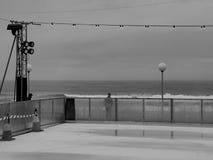 Pista de patinaje atmosférica de hielo en la playa Fotografía de archivo libre de regalías