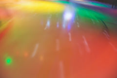 Pista de patinaje del extracto de Blured en el movimiento Foto de archivo