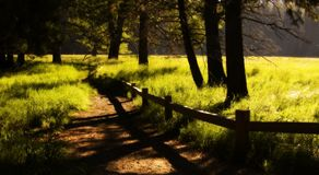 Pista de senderismo Imagen de archivo libre de regalías