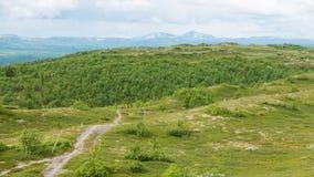 pista de senderismo de la montaña Imagen de archivo