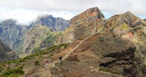 Pista de senderismo en Madeira, Portugal Fotografía de archivo