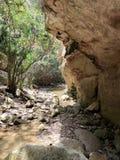 Pista de senderismo de la garganta de Avakas en Chipre Fotos de archivo libres de regalías