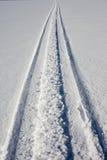 Pista de Skidoo en nieve limpia fresca Fotos de archivo